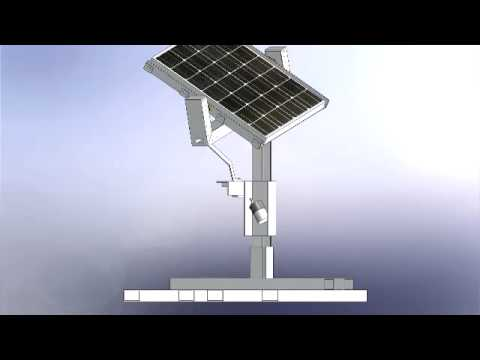 Solar Tracking System first functional prototype