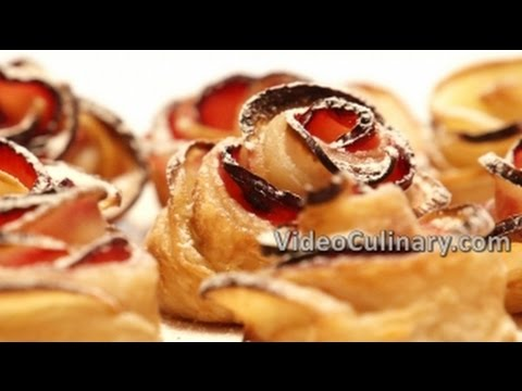 Apple Roses Recipe & Quick Homemade Puff Pastry - Video Culinary