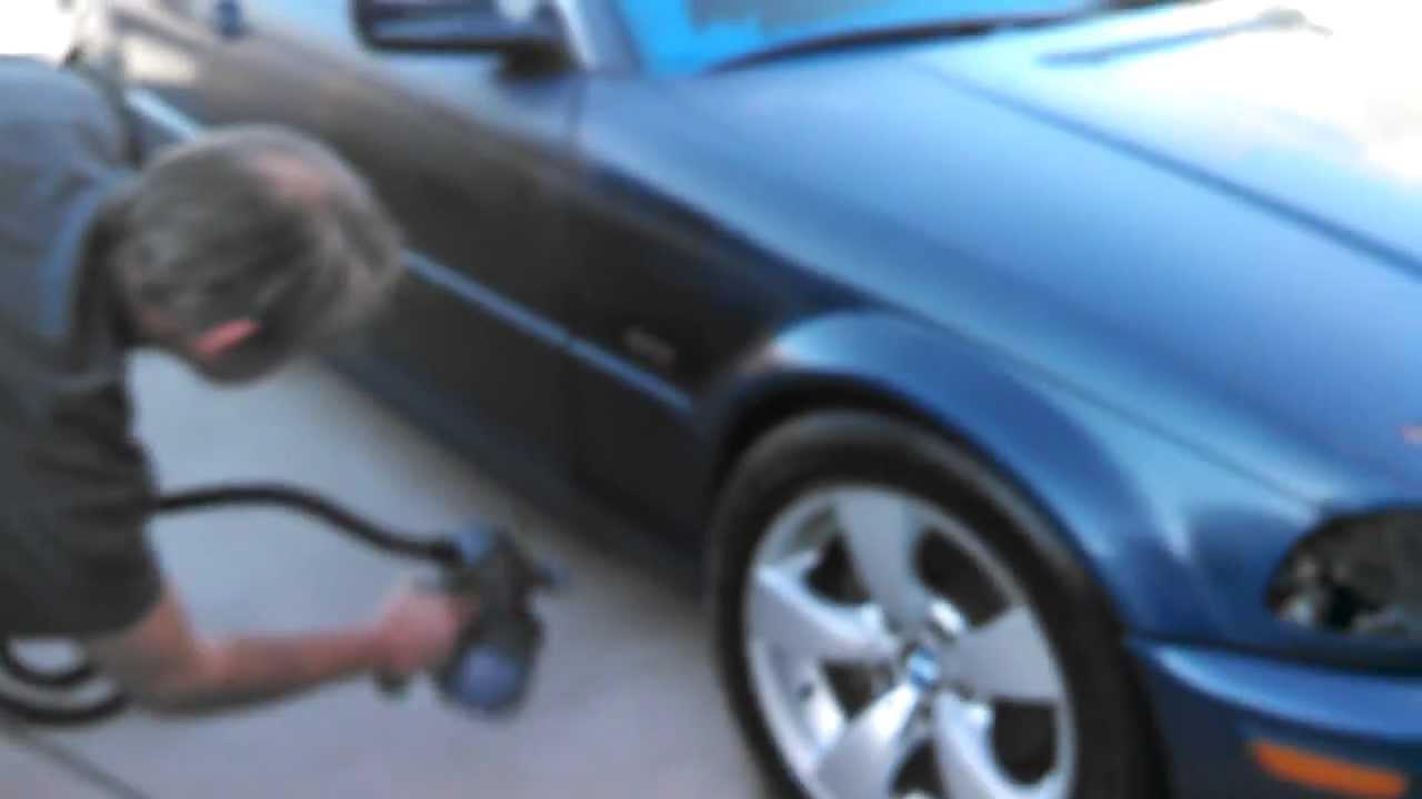 BMW 328 Plasti Dip Whole Car (Blue to Matte Black) - YouTube