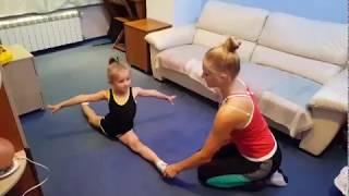 Урок 2 Как помочь ребенку сесть на шпагат. Усовершенствуем продольный шпагат. Шпагат.