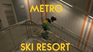 Ski dans le métro de Toulouse | RadCow