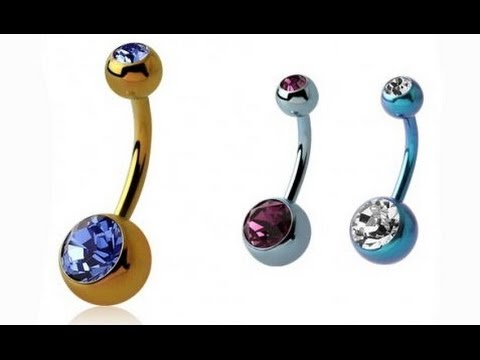 Пирсинг пупка. Титановое украшение Crazy Jewelry