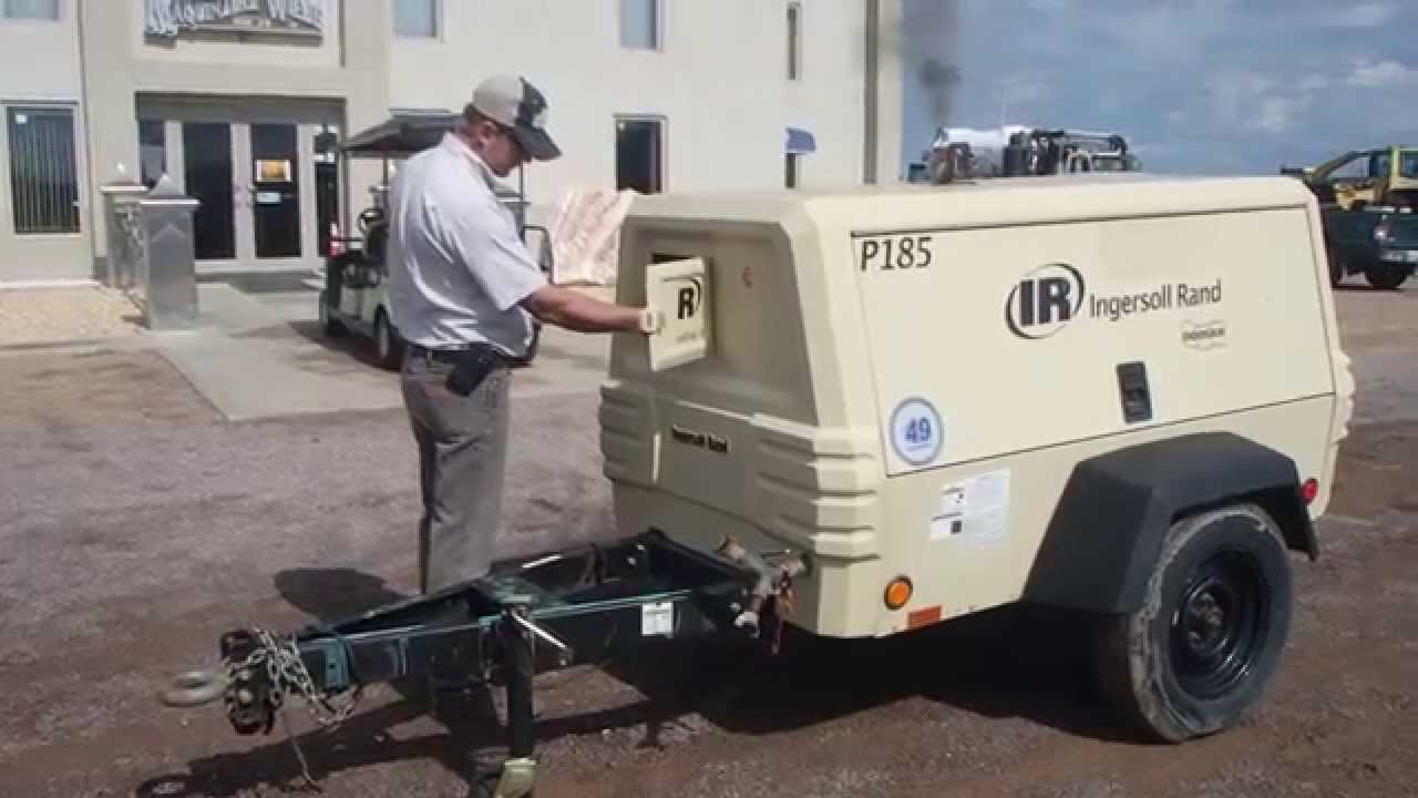 John Deere Air Compressor >> COMPRESOR INGERSOLL RAND 185 CFM AÑO 2011 - YouTube