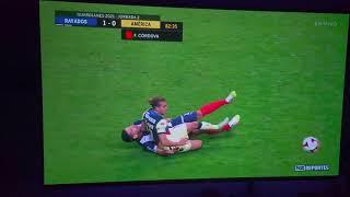 Monterrey VS América 16/1/2021 roja directa para Córdoba