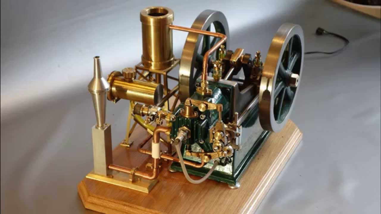 Wyvern Edgar Westbury - Castings by Hemingway Kits 40cc 4 Stroke Engine, finished version - YouTube