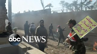 Protesters march on US embassy in Baghdad l ABC News