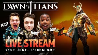 NEW TITAN + EVENT DETAILS | DAWN OF TITANS LIVE STREAM