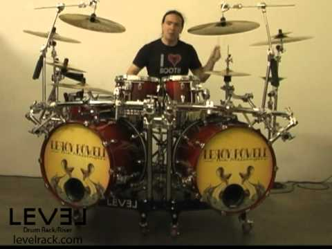 level drum rack riser christopher williams youtube. Black Bedroom Furniture Sets. Home Design Ideas