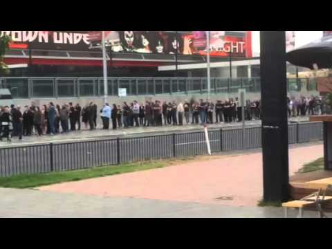 Kiss concert fans outside Entertainment Centre