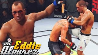 Eddie Alvarez Has Power In Those T-Rex Arms! EA Sports UFC 2 Online Gameplay