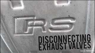 How to disconnect the exhaust valves on the 2016 Audi RS3 (and why you should do it!)