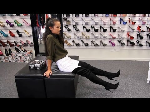 e1462b67e Walking In Pleaser Courtly-3017 Faux Suede Black Thigh High Boots ...