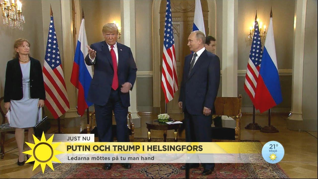 """Starka reaktioner efter Trump och Putins möte: """"Sällan man hör så förödande kri - Nyhetsmorgon (TV4)"""