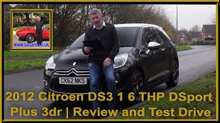 Review and Virtual Video Test Drive In Our 2012 Citroen DS3 1 6 THP DSport Plus 3dr CK62NKS