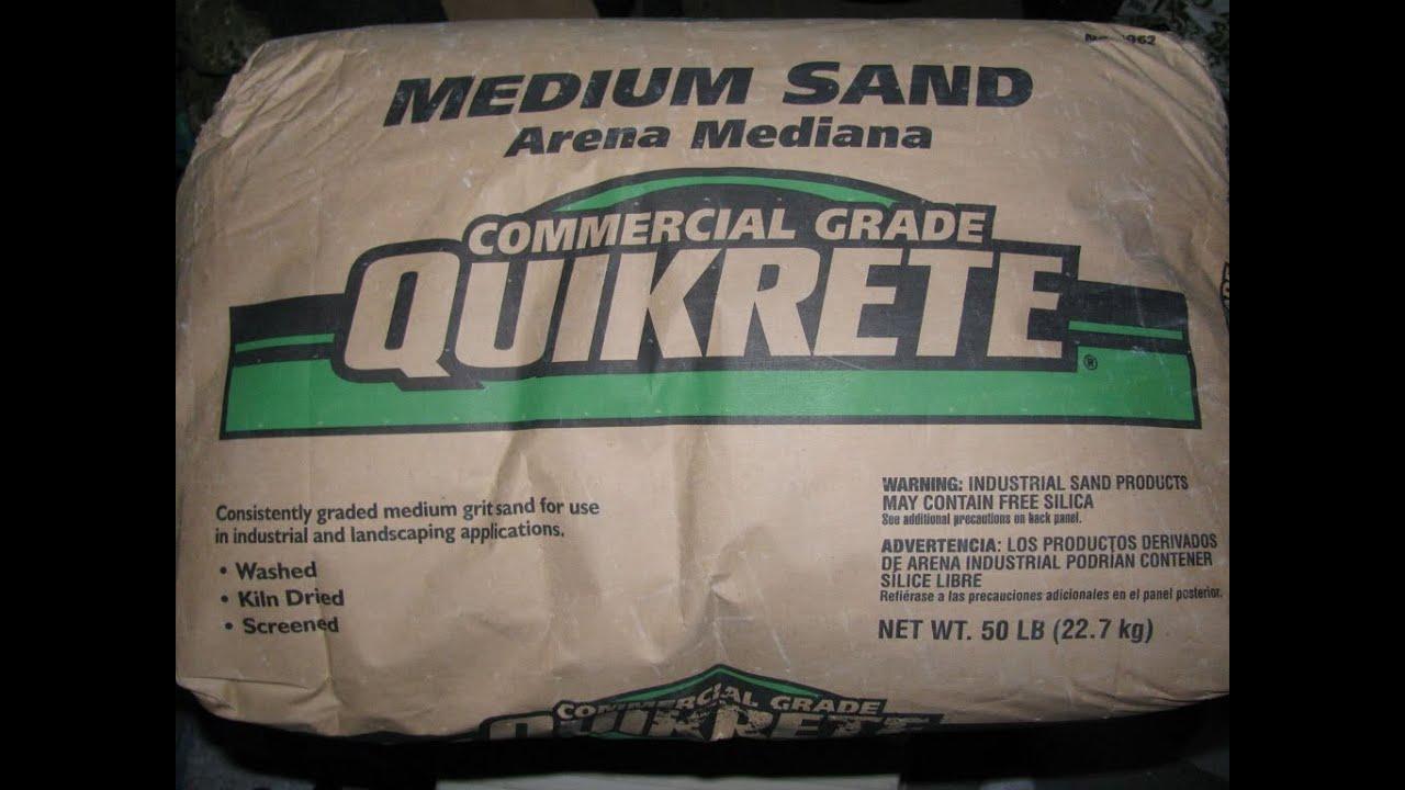 Quikrete Medium Sand Aquarium Youtube