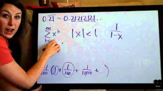 Convergence and sum of a geometric series, example 1