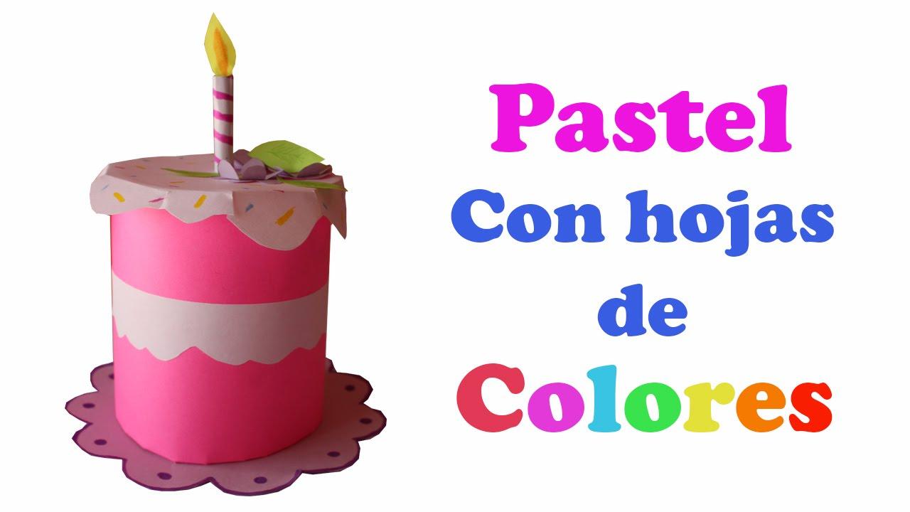 Pastel con hojas de colores regalo de cumplea os youtube - Como hacer un photocall cumpleanos ...