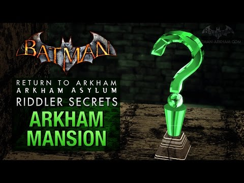 Batman: Return to Arkham Asylum - Riddler's Challenge - Arkham Mansion (All Collectibles)