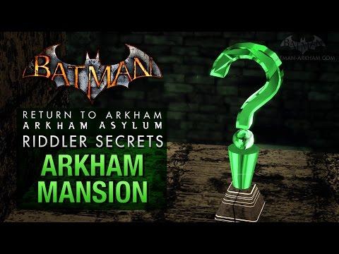 Batman: Return to Arkham Asylum - Riddlers Challenge - Arkham Mansion (All Collectibles)