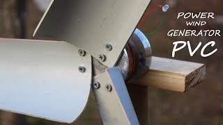 Free Energy Wind Turbine Generator using PVC pipe at Home