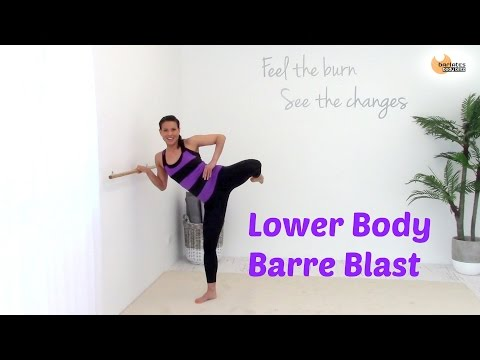 BALLET BARRE WORKOUT THIGHS - Barlates Lower Body Barre Blast with Linda Wooldridge