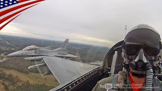 F-16 Flyover Cockpit View at Football Rivalry Game 2017 Iron Bowl