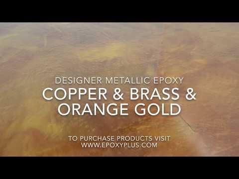 COPPER & BRASS & ORANGE GOLD
