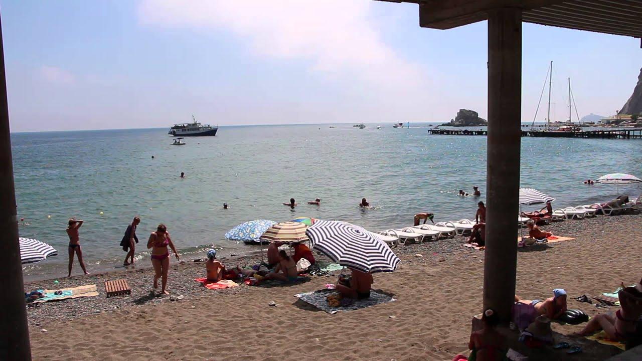 судак видео пляжа