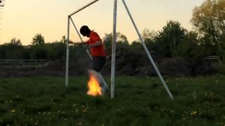 Шоу Идиоты  Огненный футбол