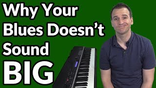 Get a BIG Blues Piano Sound with this Trick!