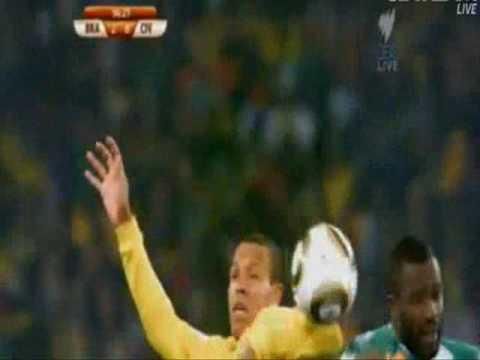Luis Fabiano Goal - Brazil vs Ivory Coast - World Cup 2010