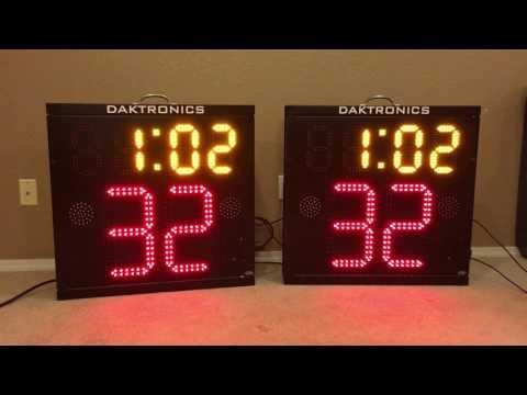 Set of Daktronics BB-2130 Basketball Shot Clocks For Sale