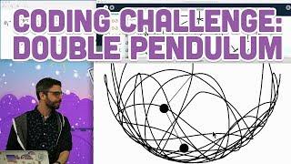 Coding Challenge #93: Double Pendulum
