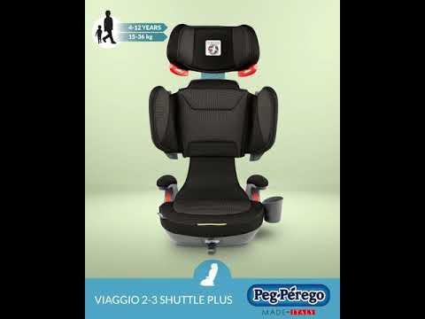 Автокресло Peg-Perego Viaggio 2-3 Shuttle Plus Graphite, черно-графитовое в полоску