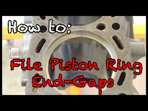 How To File Piston Ring End Gaps Youtube