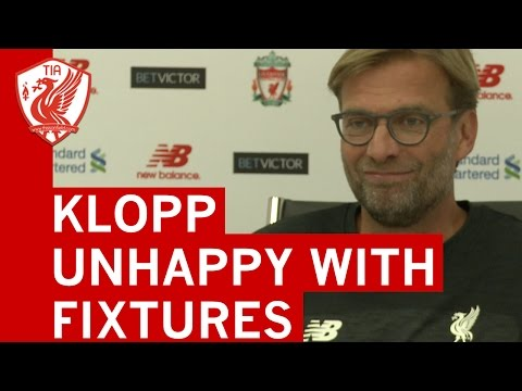 Jurgen Klopp Unhappy With Liverpool's Premier League Fixture Scheduling At New Year