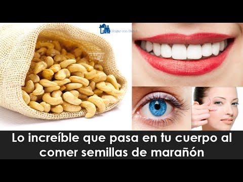 Lo increíble que pasa en tu cuerpo al comer semillas de marañón