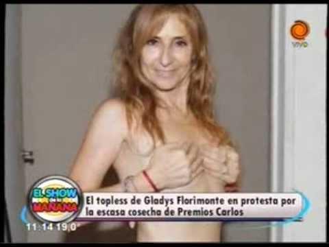 Topless de Gladys Florimonte 06 02 2014