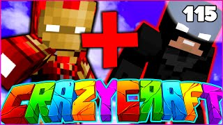 "Minecraft CRAZY CRAFT 3.0 SMP - ""IRON MAN + BATMAN COMBINED"" - Episode 115"