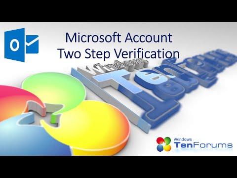 Microsoft Account - Two Step Verification