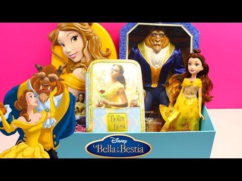 CAJA SORPRESA con Juguetes de la película La Bella y La Bestia en español | Princesa Disney Bella