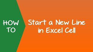 how to Start a New Line in  Excel (within cell and formula)