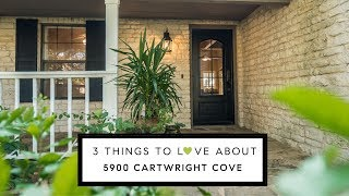 Here are 3 reasons to love 5900 Cartwright Cove, Austin TX
