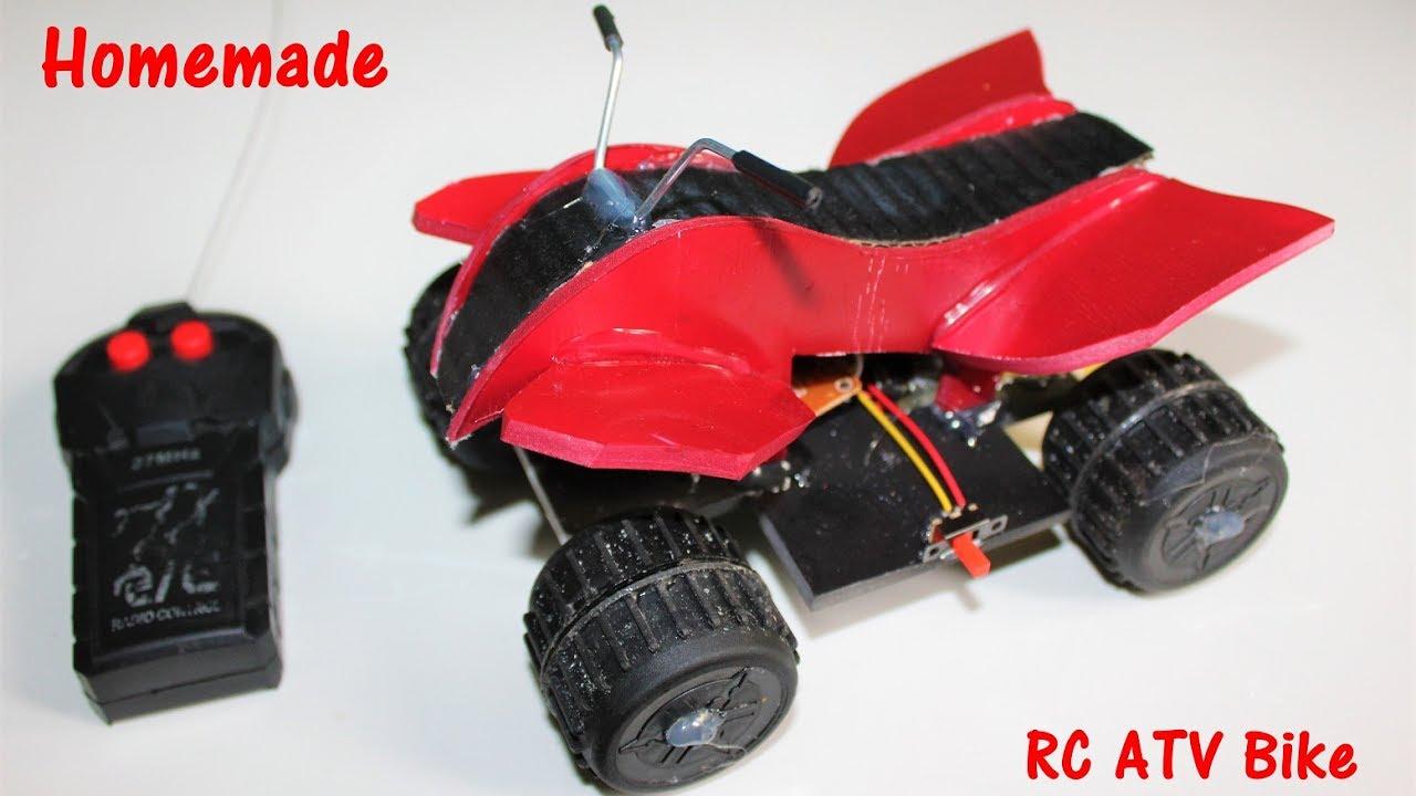 How To Make A Atv Bike Remote Controlled Bike Quad Bike Youtube