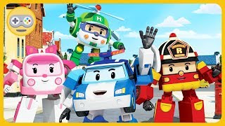 Робокар Поли - Машинки Спасатели наводят порядок в центре Брумса * Игра Robocar Poli с Kids PlayBox