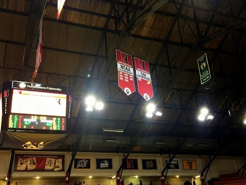 Two new banners in Matthews Arena rafters