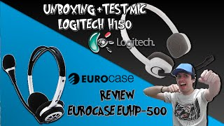 [Unboxing] #5 - TOMA TU PACK!! Audifonos Logitech H150 + Test Mic + Review Eurocase  EUHP-500!! O.O