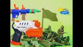 Домашние сражения игрушек ↑ Военные солдатики,  нёрфы, роботы, машины ↑ Обзор игрушек