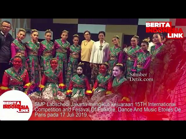 SMP Labschool Jakarta ikuti kejuaraan tari dan musik di Paris 17 Juli 2019