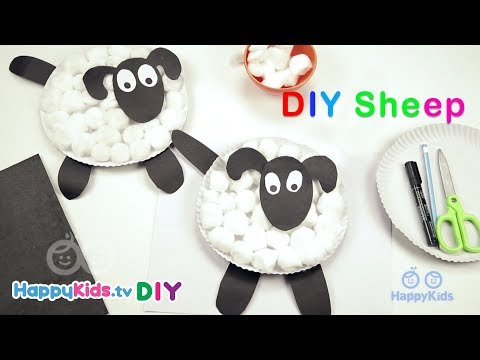DIY Sheep | Simple Crafts | Kid's Crafts and Activities | Happykids DIY